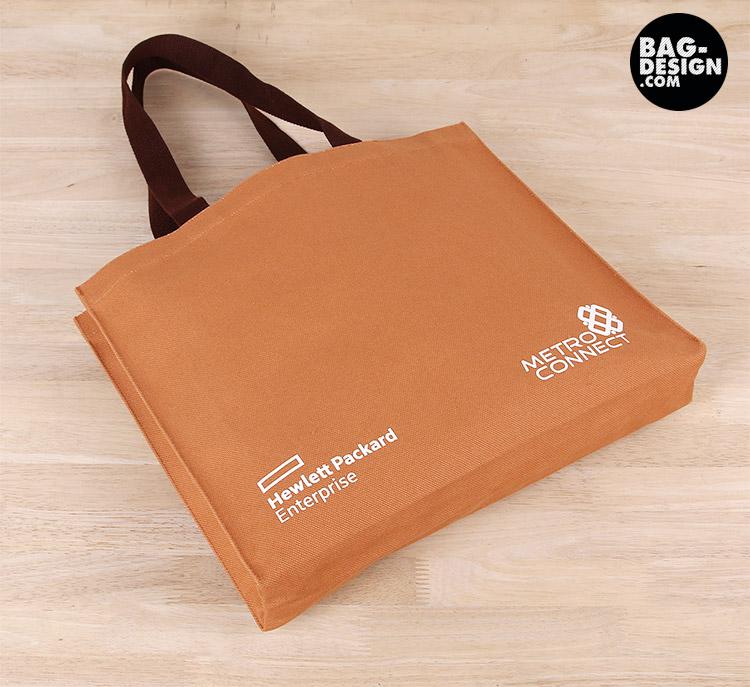 รับทำ รับผลิต กระเป๋าผ้า ถุงผ้า ให้กับ บริษัท เมโทรคอนเนค จำกัด