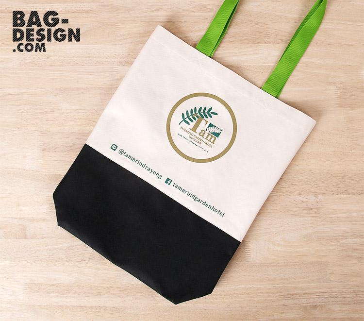 รับทำ รับผลิต กระเป๋าผ้า ถุงผ้า ให้กับ บริษัท แทมมารินด์ ระยอง จำกัด