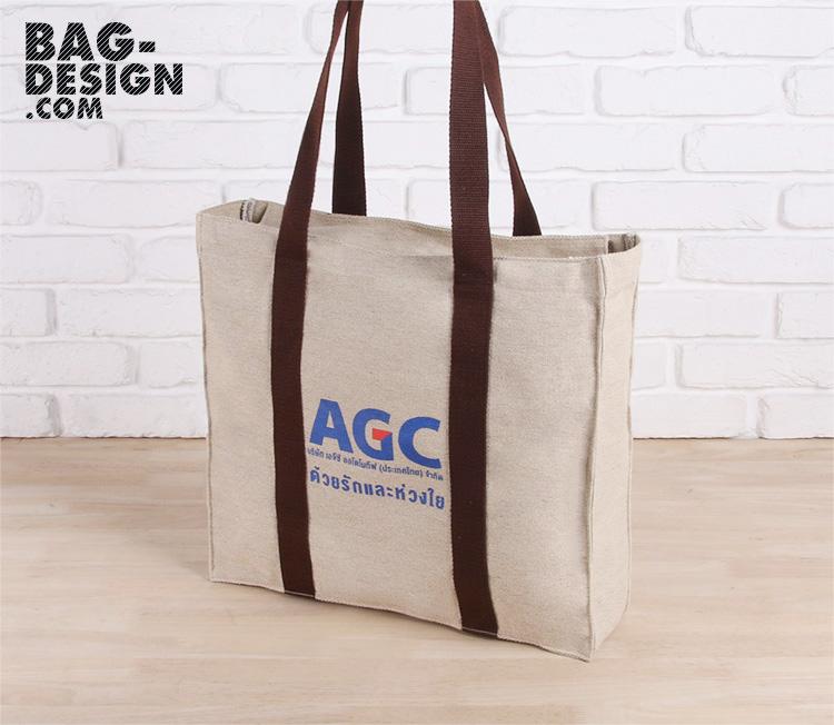 รับทำ รับผลิต กระเป๋าผ้า ถุงผ้า ให้กับ บริษัท เอจีซี ออโตโมทีฟ (ประเทศไทย) จำกัด