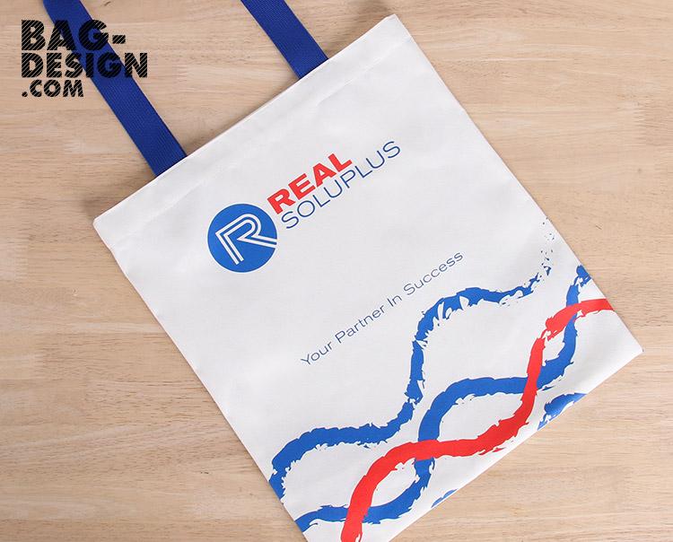 รับทำ รับผลิต กระเป๋าผ้า ถุงผ้า ให้กับ บริษัท เรียล โซลูพลัส จำกัด
