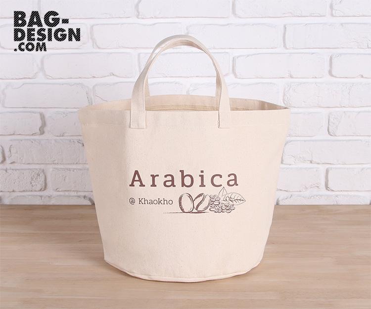 รับทำ รับผลิต กระเป๋าผ้า ถุงผ้า ให้กับ บริษัท อาราบิกา ณ เขาค้อ จำกัด